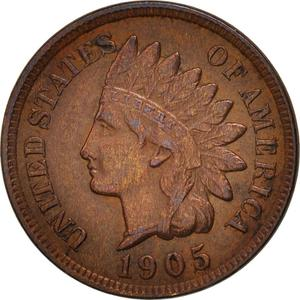 United States / One Cent 1905 Indian Head - obverse photo