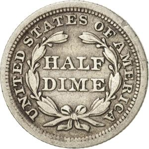 United States / Half Dime 1853 Seated Liberty - reverse photo