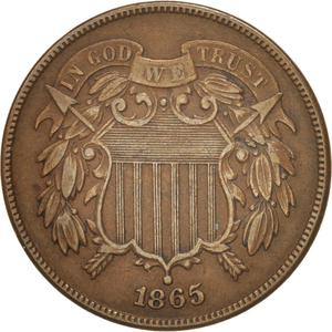 United States / Two Cents 1865 - obverse photo