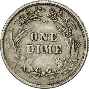 United States / One Dime 1892 Barber - reverse photo