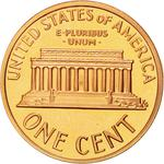 United States / One Cent 1992 Lincoln Memorial / Proof (San Francisco) - reverse photo