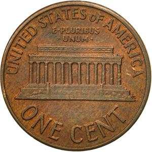 United States / One Cent 1959 Lincoln Memorial - reverse photo