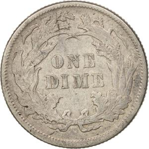 United States / One Dime 1889 Seated Liberty - reverse photo
