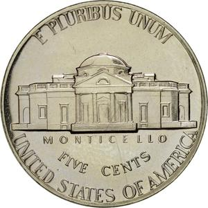 United States / Five Cents 1971 Jefferson Nickel - reverse photo