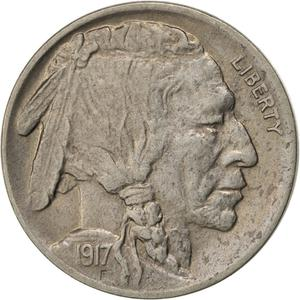 United States / Five Cents 1917 Buffalo Nickel - obverse photo