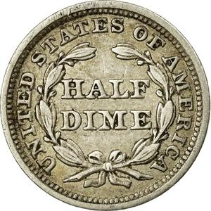 United States / Half Dime 1841 Seated Liberty - reverse photo
