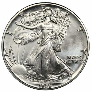 United States / Silver Ounce 1989 American Eagle - reverse photo