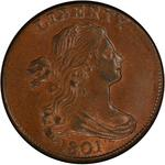 United States / One Cent 1801 Draped Bust / Three errors - obverse photo