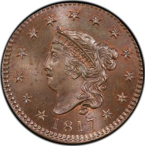 United States / One Cent 1817 Matron Head - obverse photo