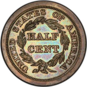 United States / Half Cent 1843 Braided Hair (Proof only) - reverse photo