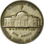 United States / Five Cents 1942 Jefferson Nickel / Silver, P mint mark (Philadelphia Mint) - reverse photo