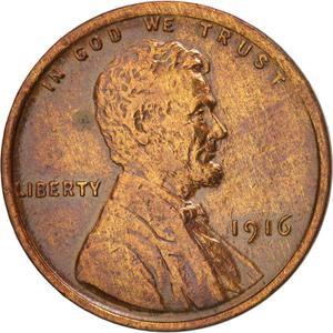 United States / One Cent 1916 Wheat Penny - obverse photo