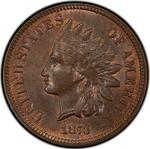 United States / One Cent 1873 Indian Head / Closed 3 - obverse photo