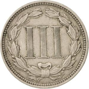 United States / Three Cents 1869, Nickel - reverse photo