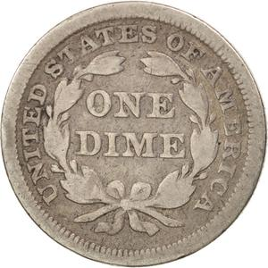 United States / One Dime 1852 Seated Liberty - reverse photo