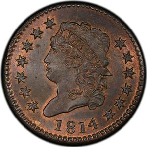 United States / One Cent 1814 Classic Head - obverse photo