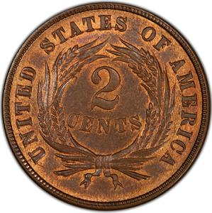United States / Two Cents 1871 - reverse photo