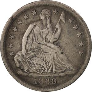 United States / Half Dime 1838 Seated Liberty - obverse photo