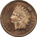 United States / One Cent 1863 Indian Head / Proof - obverse photo