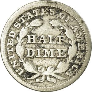 United States / Half Dime 1849 Seated Liberty - reverse photo