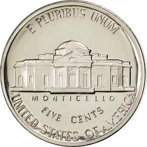 United States / Five Cents 1984 Jefferson Nickel - reverse photo