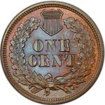 United States / One Cent 1864 Indian Head (Bronze) / L on ribbon - reverse photo