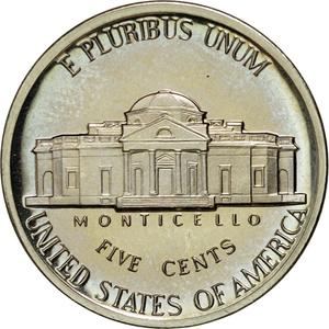 United States / Five Cents 1985 Jefferson Nickel - reverse photo