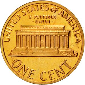United States / One Cent 1979 Lincoln Memorial - reverse photo