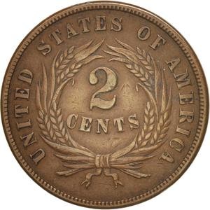 United States / Two Cents 1865 - reverse photo