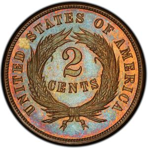 United States / Two Cents 1868 - reverse photo