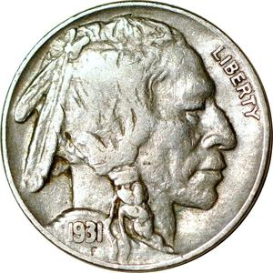 United States / Five Cents 1931 Buffalo Nickel - obverse photo