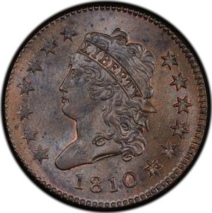 United States / One Cent 1810 Classic Head - obverse photo