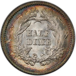 United States / Half Dime 1862 Seated Liberty - reverse photo