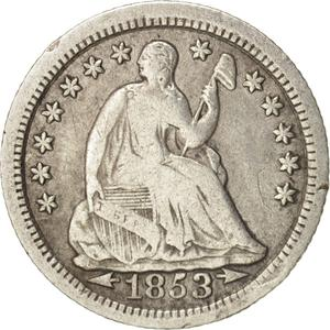 United States / Half Dime 1853 Seated Liberty - obverse photo