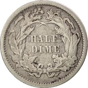 United States / Half Dime 1861 Seated Liberty - reverse photo