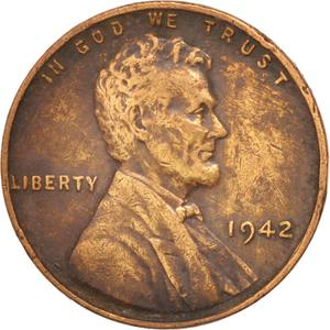 United States / One Cent 1942 Wheat Penny - obverse photo