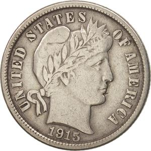 United States / One Dime 1915 Barber - obverse photo