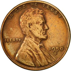 United States / One Cent 1950 Wheat Penny - obverse photo