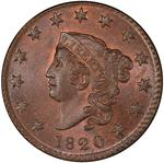 United States / One Cent 1820 Matron Head / Small date - obverse photo