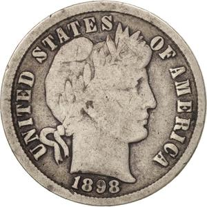 United States / One Dime 1898 Barber - obverse photo