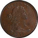 United States / One Cent 1797 Draped Bust / Reverse of 1796 - obverse photo