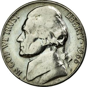 United States / Five Cents 1966 Jefferson Nickel - obverse photo