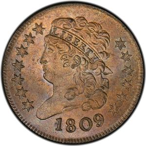 United States / Half Cent 1809 Classic Head - obverse photo