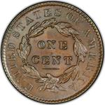 United States / One Cent 1834 Matron Head / Medium letters, large 8, large stars - reverse photo