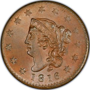 United States / One Cent 1816 Matron Head - obverse photo