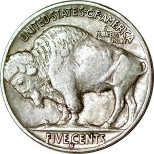 United States / Five Cents 1931 Buffalo Nickel - reverse photo