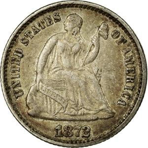 United States / Half Dime 1872 Seated Liberty - obverse photo