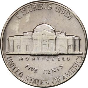 United States / Five Cents 1970 Jefferson Nickel - reverse photo