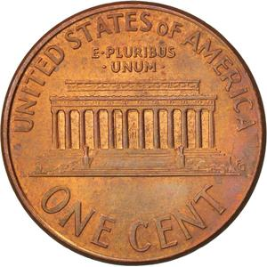 United States / One Cent 2000 Lincoln Memorial - reverse photo
