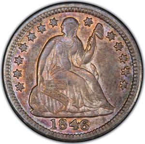 United States / Half Dime 1846 Seated Liberty - obverse photo
